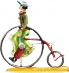 Dame auf Dreirad