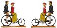 Pärchen auf Dreirad