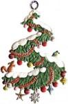Anhänger: Weihnachts-Spirale, Kranz