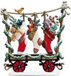 Eisenbahn-Wagon: Weihnachtsstrümpfe