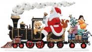 Weihnachtsmann als Zugführer