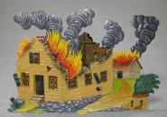 Brennendes Gehöft