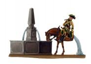 Münchhausen mit Pferd am Brunnen