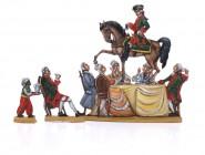 Münchhausen reitet auf dem Tee-Tisch
