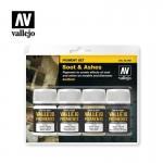 Vallejo Pigment Set Schnee, Asche, Ruß, Industrie