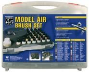 Komplettes Farbenset mit Airbrushpistole: Model Air Set, Basic colors