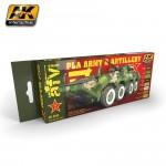 PLA Chinesische (Volksbefreiungsarmee)  Artillerie- & Armeefahrzeuge Farbset Nr.1
