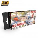 U.S. Luftwaffe Metallflugzeuge Farbset