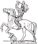 Prince August: Gießformen: Indianer zu Pferd, 19. Jh.