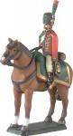 Prince August: Gießform: Jäger zu Pferd im Halt, Garde Imperial, 1789 bis 1815