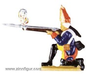 Grenadier, kneeling and firing