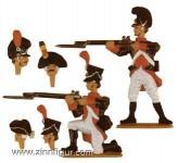 Kneeling and standing Infantrymen
