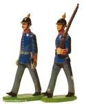 Schildkröt: Gießform: Offizier und Mann, marschierend (Infanterie), 1871 bis 1918