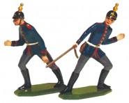 Schildkröt: Gießform: 2 Kanoniere im Einsatz, 1871 bis 1918