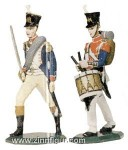 Lininfantry Officer and Drummer