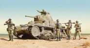Carro Armoto M14/41 mit Infanteristen