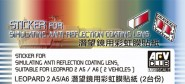 Anti Reflection Coating for Leopard 2A2/2A6