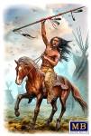 "Indianer-Krieger zu Pferd ""Running Bear"""