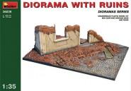 Ruine mit Dioramabasis