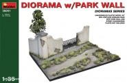 Dioramabasis mit Parkmauer