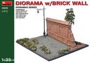 Dioramabasis mit Ziegel-Mauer