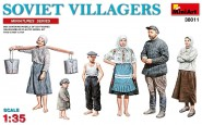 Sowjetische Dorfbewohner