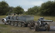 Sd.Kfz.7 8(t) with s.FH.18 Howitzer