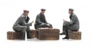 Deutsche Soldaten beim Kartenspiel