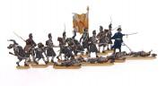 Infanterie (im Mantel) im Gefecht