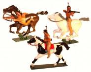 Indianer zu Pferd im Kampf