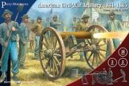 Amerikanische Bürgerkriegs-Artillerie 1861-65