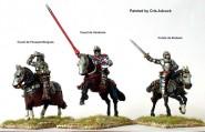 Französischer Stab zu Pferd bei Agincourt