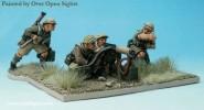 Vickers MG mit Soldaten