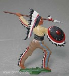 Spenkuch(B.Z.): Indianerhäuptling, Großfigur, bemalt