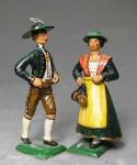Herst.unbekannt: Trachtenpaar aus Tirol, 1850 bis 2017