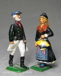 Herst.unbekannt: Hamburger Trachtenpaar, 1850 bis 2017