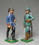 Herst.unbekannt: Zwei Infanterieoffiziere, 1871 bis 1918