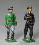 Herst.unbekannt: Zwei Offiziere gehend, 1935 bis 1945