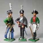 Herst.unbekannt: Drei preußische Soldaten, 1806 bis 1815