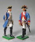 Herst.unbekannt: Zwei Infanterie-Offiziere, 1712 bis 1786