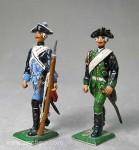 Herst.unbekannt: Zwei preußische Frei-Soldaten, 1756 bis 1763