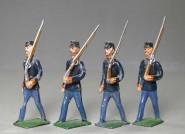Diverse Hersteller: Infanterie im Marsch, um 1900
