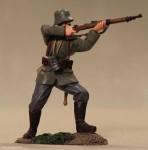 Britain: Infanterist feuernd, 1916 bis 1918