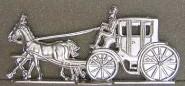 Merten/Berlin: Kutsche mit Vorspann, fahrend, 1830 bis 1950