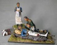 Diverse Hersteller: Im Lazarett: Napoleon, Marschall Lannes, Doktor Larrey und Zubehör, 1789 bis 1815
