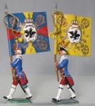 Herst.unbekannt: Zwei preußische Fahnenträger, 1756 bis 1763