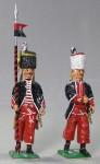 Herst.unbekannt: Zwei preußische Bosniaken, 1756 bis 1763