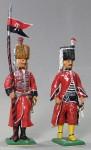 Herst.unbekannt: Zwei preußische Bosniaken, um 1780