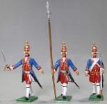 Herst.unbekannt: Drei Grenadiere vorgehend, 1712 bis 1786