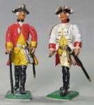 Herst.unbekannt: Zwei preußische Offiziere, 1712 bis 1786